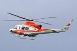 hidetsuguさんが、札幌飛行場で撮影した北海道防災航空隊 412EPの航空フォト(写真)
