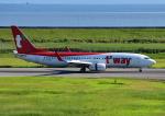 じーく。さんが、佐賀空港で撮影したティーウェイ航空 737-8Q8の航空フォト(飛行機 写真・画像)