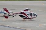 E-75さんが、函館空港で撮影した読売新聞 EC135P2の航空フォト(写真)