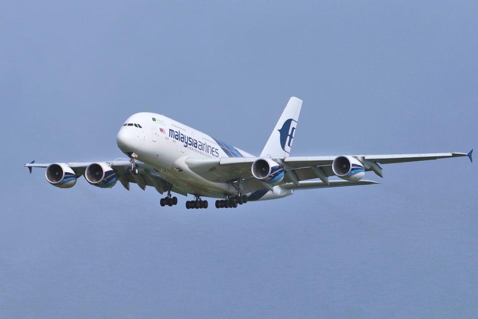 yabyanさんのマレーシア航空 Airbus A380 (9M-MND) 航空フォト