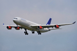 yabyanさんが、成田国際空港で撮影したスカンジナビア航空 A340-313Xの航空フォト(飛行機 写真・画像)