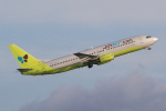 キイロイトリさんが、関西国際空港で撮影したジンエアー 737-86Nの航空フォト(写真)