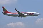 yabyanさんが、成田国際空港で撮影したティーウェイ航空 737-8BKの航空フォト(飛行機 写真・画像)