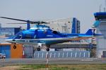 へりさんが、東京ヘリポートで撮影した日本デジタル研究所(JDL) A109E Powerの航空フォト(写真)