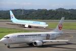 くれないさんが、岡山空港で撮影した日本トランスオーシャン航空 737-446の航空フォト(飛行機 写真・画像)