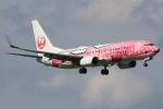 キイロイトリさんが、福岡空港で撮影した日本トランスオーシャン航空 737-8Q3の航空フォト(写真)