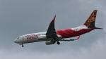 オキシドールさんが、シンガポール・チャンギ国際空港で撮影したエア・インディア・エクスプレス 737-86Nの航空フォト(写真)