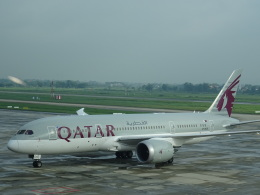toyokoさんが、ノイバイ国際空港で撮影したカタール航空 787-8 Dreamlinerの航空フォト(飛行機 写真・画像)