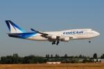 ぼんやりしまちゃんさんが、パリ オルリー空港で撮影したコルセール 747-422の航空フォト(写真)