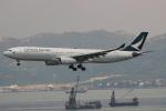 uhfxさんが、香港国際空港で撮影したキャセイパシフィック航空 A330-343Xの航空フォト(飛行機 写真・画像)