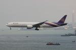uhfxさんが、香港国際空港で撮影したタイ国際航空 777-3D7/ERの航空フォト(飛行機 写真・画像)