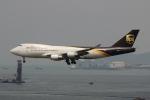 uhfxさんが、香港国際空港で撮影したUPS航空 747-4R7F/SCDの航空フォト(飛行機 写真・画像)