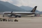 uhfxさんが、香港国際空港で撮影したシンガポール航空 A350-941の航空フォト(飛行機 写真・画像)