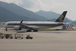 uhfxさんが、香港国際空港で撮影したシンガポール航空 A350-941XWBの航空フォト(写真)