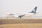 ゴンタさんが、北京首都国際空港で撮影した山東航空 737-35Nの航空フォト(写真)