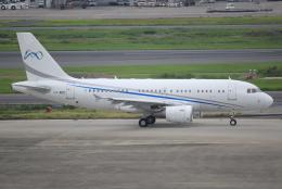 キイロイトリさんが、羽田空港で撮影したグローバル・ジェット・ルクセンブルク A319-115CJの航空フォト(写真)