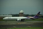Kanatoさんが、台湾桃園国際空港で撮影したタイ国際航空 777-3AL/ERの航空フォト(写真)