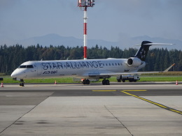 NIKEさんが、リュブリャナ空港で撮影したアドリア航空 CL-600-2D24 Regional Jet CRJ-900LRの航空フォト(飛行機 写真・画像)