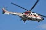 IL-18さんが、東京ヘリポートで撮影した朝日航洋 AS332L1 Super Pumaの航空フォト(写真)