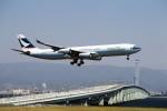 T.Sazenさんが、関西国際空港で撮影したキャセイパシフィック航空 A340-313Xの航空フォト(飛行機 写真・画像)