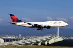 T.Sazenさんが、関西国際空港で撮影したデルタ航空 747-451の航空フォト(写真)