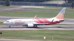 誘喜さんが、シンガポール・チャンギ国際空港で撮影したエア・インディア・エクスプレス 737-8HJの航空フォト(写真)