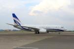 たまさんが、羽田空港で撮影した現代自動車 737-75G BBJの航空フォト(写真)