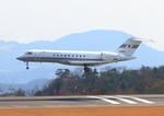 ふじいあきらさんが、広島空港で撮影した国土交通省 航空局 BD-700-1A10 Global Expressの航空フォト(写真)