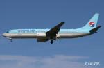 RINA-200さんが、小松空港で撮影した大韓航空 737-9B5の航空フォト(写真)