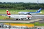 kan787allさんが、成田国際空港で撮影したスイスインターナショナルエアラインズ A340-313Xの航空フォト(写真)