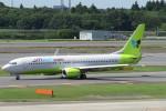 SFJ_capさんが、成田国際空港で撮影したジンエアー 737-8Q8の航空フォト(写真)