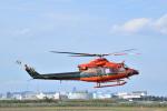 フォークリフト操縦士さんが、仙台空港で撮影した富山県消防防災航空隊 412EPの航空フォト(写真)