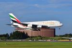 ポン太さんが、成田国際空港で撮影したエミレーツ航空 A380-861の航空フォト(写真)