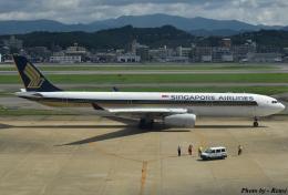 れんしさんが、福岡空港で撮影したシンガポール航空 A330-343Xの航空フォト(飛行機 写真・画像)