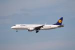 sky-spotterさんが、フランクフルト国際空港で撮影したルフトハンザ・シティライン ERJ-190-100 LR (ERJ-190LR)の航空フォト(写真)