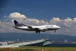 T.Sazenさんが、関西国際空港で撮影したユナイテッド航空 747-422の航空フォト(飛行機 写真・画像)