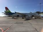 FlyHideさんが、セイシェル国際空港で撮影したエアセイシェル A320-232の航空フォト(写真)