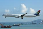 kansaigroundさんが、香港国際空港で撮影した南アフリカ航空 A340-642の航空フォト(写真)