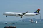 kansaigroundさんが、香港国際空港で撮影した南アフリカ航空 A340-313Xの航空フォト(写真)