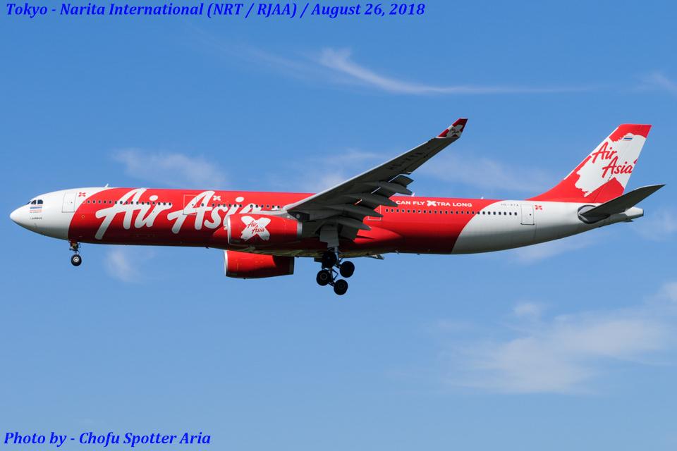 Chofu Spotter Ariaさんのタイ・エアアジア・エックス Airbus A330-300 (HS-XTA) 航空フォト
