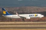 RUNWAY23.TADAさんが、新千歳空港で撮影したスカイマーク 737-8HXの航空フォト(写真)