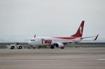 ハピネスさんが、関西国際空港で撮影したティーウェイ航空 737-8ASの航空フォト(写真)