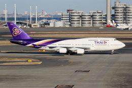 杏奈さんが、羽田空港で撮影したタイ国際航空 747-4D7の航空フォト(飛行機 写真・画像)