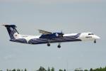 ちゃぽんさんが、成田国際空港で撮影したオーロラ DHC-8-402Q Dash 8の航空フォト(飛行機 写真・画像)