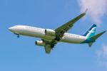delawakaさんが、シンガポール・チャンギ国際空港で撮影したシルクエア 737-8SAの航空フォト(写真)