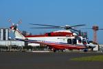 harahara555さんが、東京臨海広域防災公園ヘリポートで撮影した横浜市消防航空隊 AW139の航空フォト(写真)