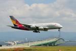 T.Sazenさんが、関西国際空港で撮影したアシアナ航空 A380-841の航空フォト(飛行機 写真・画像)