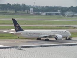 くろぼしさんが、シンガポール・チャンギ国際空港で撮影したサウディア 787-9の航空フォト(写真)