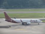 くろぼしさんが、シンガポール・チャンギ国際空港で撮影したマリンド・エア 737-8GPの航空フォト(飛行機 写真・画像)