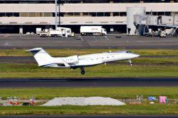 まいけるさんが、羽田空港で撮影したアルバ企業所有 G-IV-X Gulfstream G450の航空フォト(飛行機 写真・画像)